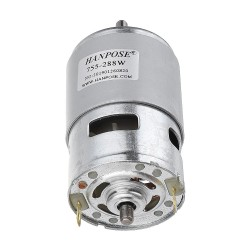 HANPOSE 775 Motor DC 12V 24V 288W DC Motor Large Torque High Power DC Motor Double Ball Bearing Spindle Motor - 12000RPM