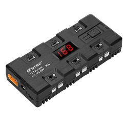 HTRC X6 4W*6 1A*6 DC Battery Charger with Micro MX MCPX JST Port for 1S LiPo/LiHV Battery