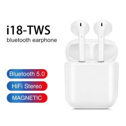i18tws Wireless Bluetooth earphone Dual Call Touch 5.0 Sports in-ear Headset pk earbuds stereo earpieces mic for iphone