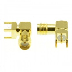 1pc SMA Female Adapter Right Angle Solder For PCB Board Mount RF Connector for RC Drone FPV Racing