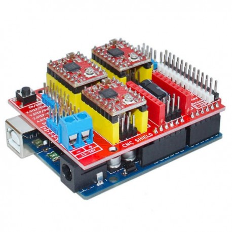 Geekcreit UNO R3 With 4pcs A4988 Driver With CNC Shield V3 Expansion Board For 3D Printer