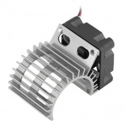 Motor Cooling Heat Sink With Cooling Fan for 1/10 Scale Electric RC Car Heatsink Top Vented 380 / 390 Motor Buggy Crawler Kit