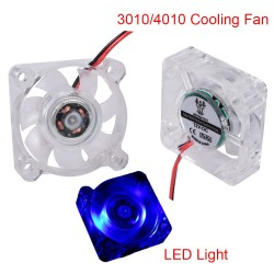 BIGTREETECH 3010/4010 Fan LED Cooling Fan Blue Light 5V/12V 2pin Low Noise 3d Printer Parts