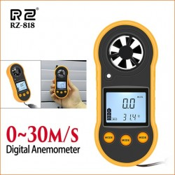 RZ Anemometer Wind Meter Anemometro Lcd Digital Wind Speed Meter Sensor Portable 0-30m/S