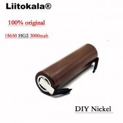 Liitokala HG2 18650 3000mAh battery 18650HG2 3.6V discharge 30A, dedicated batteries + DIY Nickel