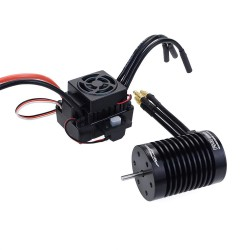 Surpass Hobby Waterproof F540 V2 Sensorless Brushless Motor with 60A ESC for 1/10 RC Vehicles - 3300KV