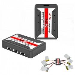 HotRc A100 6 in 1 3.7V Lipo Battery Charger For Hubsan X4 Q4 H107L H107C WLtoys JJCR UDI