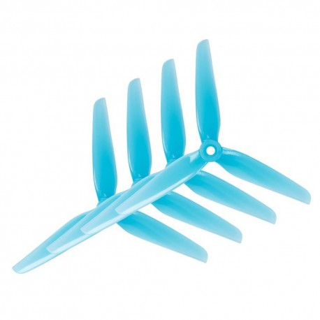HQProp HeadsUp Racing 3-Bladed Prop R38 Blue (2CW+2CCW) Poly Carbonate Propeller Multi Rotor Parts For FPV Racing RC Drone