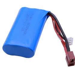 Lipo Battery 18650 for Q46 Wltoys 10428 /12428/12423 RC Car Spare Parts with charger 7.4V 3000MAH T Plug