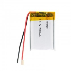 3.7V 2000mAh 103450 Lipo Polymer Lithium Rechargeable Battery