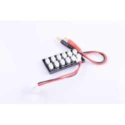 2S Parallel Charge Board 7.4V JST-PH2.0 with 4.0mm Banana Plug 2S LiPo Battery Charge Board for Balance Charger Imax B6