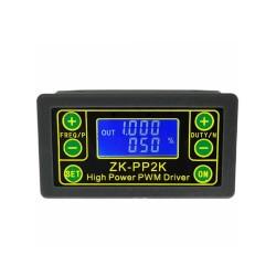 ZK-PP2K PWM DC 3.3-30V 12V 24V Motor Speed Controller Regulator 8A 150W Adjustable LED Dimmer Pulse Frequency Duty Ratio