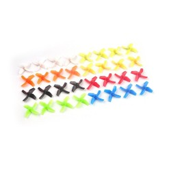 10Pair Four-blade 31mm Propeller CW CCW 0.8mm Hole Pitch Propellers Tinywhoop H36/E010/Tiny6 Props for RC Drone 615 Motor