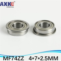 Mf74zz 4x7x2.5mm Miniature Flange Bearing Thin Wall Deep Groove Ball Radial Ball Bearing