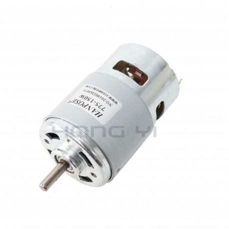 HANPOSE 775 Motor DC 12V 24V 200W DC Motor Large Torque High Power DC Motor Double Ball Bearing Spindle Motor - 15000RPM