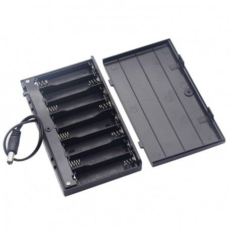 DIY 12V 8 x AA Battery Holder Case Box With Leads Switch Diy Power Bank Battery Holder
