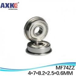 SMF74ZZ Smf74 zz FL674ZZ LF740ZZ 4*7*8.2*2.5*0.6mm Flange bushing ball bearing SMF74 ZZ