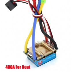 RC ESC 480A Brushed ESC Speed Controller 5V 3A for RC Boat