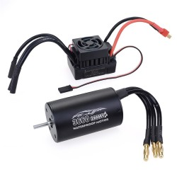 Surpass Hobby 3650 Waterproof 4Pole¢3.175mm Unsensed Brushless RC Car Motor+60A ESC For 1/8/10 Vehicle Models - 2300KV