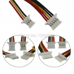 2P/3P/4P/5P/6 Pin MX1.25 51146 1.25mm Female Double Connector with Wire 150MM 28 AWG 1.25MM