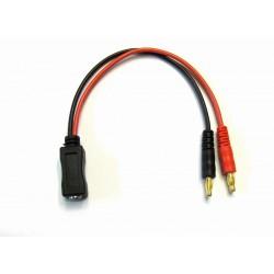 4.0mm Banana Plug to FatShark FPV Goggles Lipo Battery Charging Cable for iMax B6 Charger
