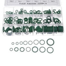 Suleve™ MXRW5 225Pcs R22/R134a Green Rubber O-Ring