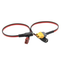 XT60 XT30 T Dean Plug to DC 5.5/2.1mm 5521 Female Adapter Charging Power Cable Fatshark Skyzone Aomway Goggles Battery charge
