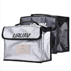 URUAV UR27 Fireproof Waterproof Lipo Battery Safety Bag 26X18X13cm with Label Folder