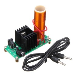 Assembled Music Tesla Coil Mini Plasma Horn Speaker 15W 2A DC 15-24V Module