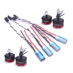 4pcs RS2205 2300kv Brushless Motor 3-4S + 4pcs BLHelis-s 20A 2-4S ESC For freestyle 250mm
