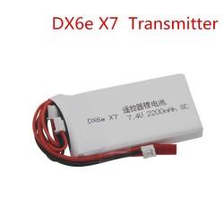 DXF Li-Polymer lipo battery Spektrum dx6e DX6 2S 7.4V 2000MAH 8c Transmitter
