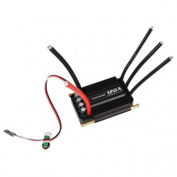 Flycolor 120A Brushless ESC 2-6S RC Boats Waterproof ESC with BEC System for RC Boats