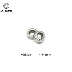 2PCS MR84ZZ 4X8X3 mm Deep groove Ball Bearings