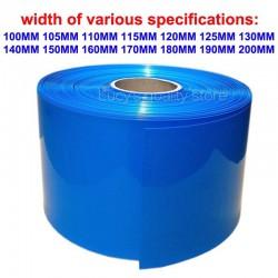 50CM 18650 lithium battery sleeve sheath PVC heat shrinkable tube shrink film of various sizes shrink sheath