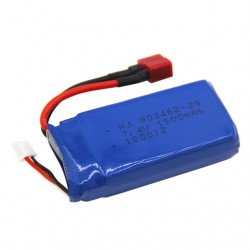 7.4V 1500mAh Lipo battery With USB Charger For FT009 RC Boat 12428 144001 battery Lipo