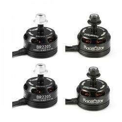 4X Racerstar Racing Edition 2205 BR2205 2300KV 2-4S Brushless Motor Black For 210 X220 250 280 RC Drone