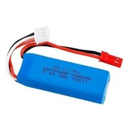 7.4V 600mAh 20C Lipo Battery for WLtoys K969 K979 K989 K999 P929 P939 RC Car Parts
