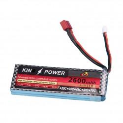 7.4V 2600 MAH Lipo Battery T Plug For Wltoys 1/14 144001 RC Car Upgrade Parts