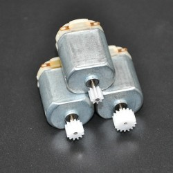 3Pcs/ 130 Small DC MOTOR 3 to 5V Miniature motor four-wheel motor small+(Gear package 3pcs)