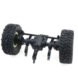 JJRC Front Bridge Axle With Wheel For Q60 Q61 1/16 2.4G Off-Road Military Trunk Crawler RC Car