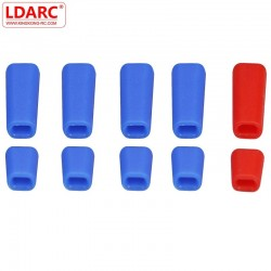 10 PCS LDARC Rubber Anti-slipping Stick Switch Cap Bule Red for Frsky X9D Plus Flysky JR Radio Transmitter RC Models Spare Part