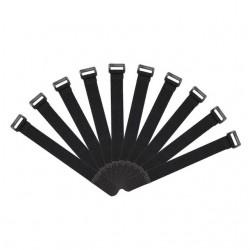 10pcs Tie Holder Strap Suspenders Fastener Hook Loop Ties Belt 200x20mm