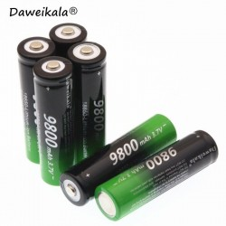 2pcs 18650 Battery High Quality 9800mAh 3.7V 18650 Li-ion batteries Rechargeable Battery For Flashlight Torch