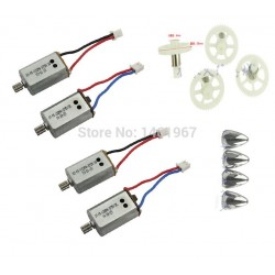 Syma X8 X8C X8W X8G RC Quadcopter Spare Parts CW CCW motors + Main Gear with iron sleeve +Motor cap
