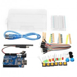 Basic Starter Kit UNO R3 Mini Breadboard LED Jumper Wire Button With Box For Geekcreit for Arduino