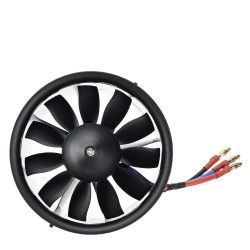 Taft Hobby 90mm 11 Blades Ducted Fan EDF Boost Version with 3560 KV1500 Brusheless Motor Support 6S