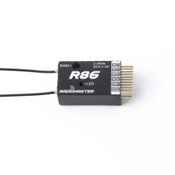 RadioMaster R86 2.4GHz 6CH Over 1KM PWM Nano Receiver Compatible FrSky D8 Support Return RSSI for RC Drone
