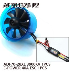 AEORC 70mm Ducted Fan System EDF AF70432B-P2 for Jet Plane with Brushless Motor