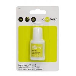GOOBAY Super Glue with brush 77017, 10g