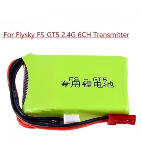 Flysky 7.4V 1500mAh 8C 2S Li-ion Battery for FS GT5 2.4G 6CH Transmitter